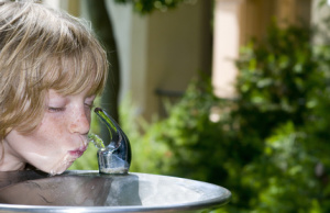 Child at Drinking Fountain